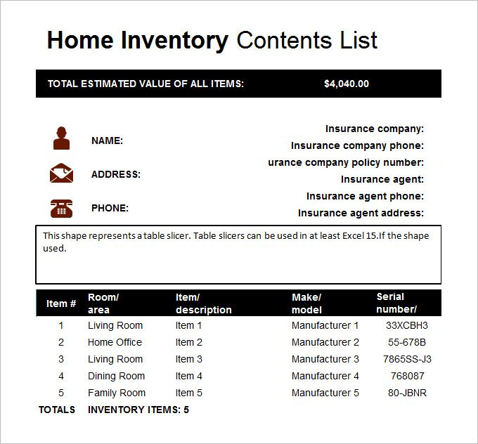 A home inventory template is an excellent way to expedite the