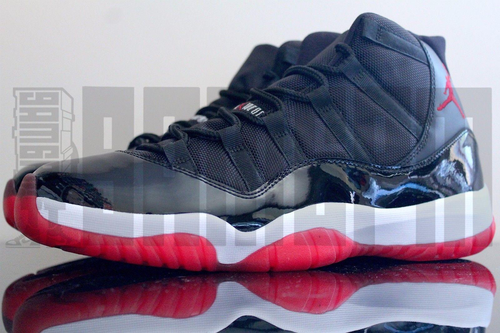 2012 Nike AIR JORDAN 11 RETRO BRED 9 10 11 BLACK RED concord spacejam gamma  aj11
