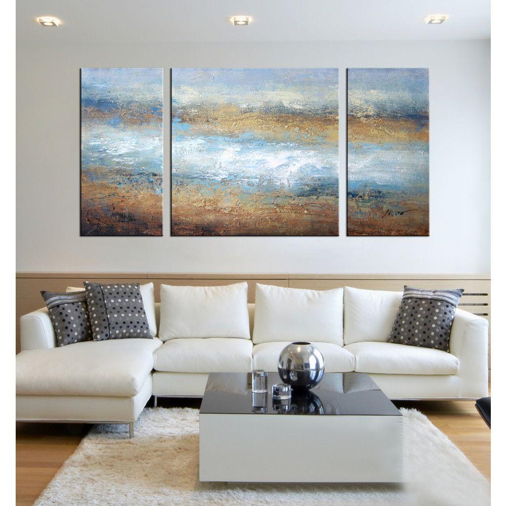 Handpainted uthe tide of colorsu piece gallerywrapped art set