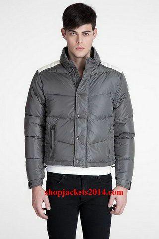 Moncler Outlet UK Austin Men Down Jacket Grey
