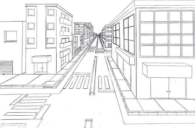 Ver Imagen De Origen Dibujo One Perspective Drawing