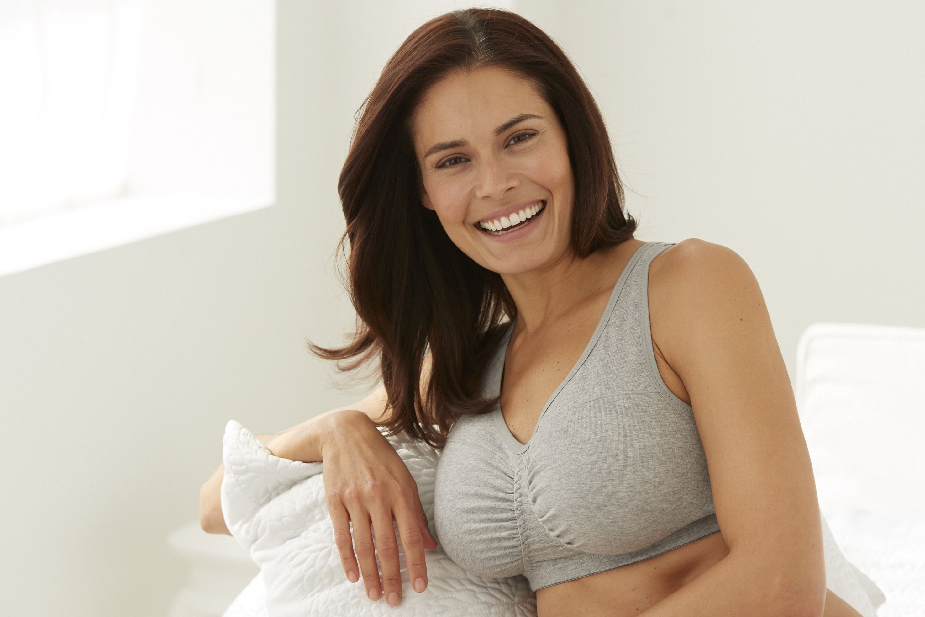 Wirefree Cotton Leisure/Sleeping Bra by Comfort Choice® #plussize ...