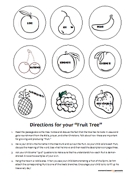 Fruit Of The Spirit Printable For Kids Cornerstones For Parents Fruit Of The Spirit Kids Church Lessons Bible Lessons For Kids