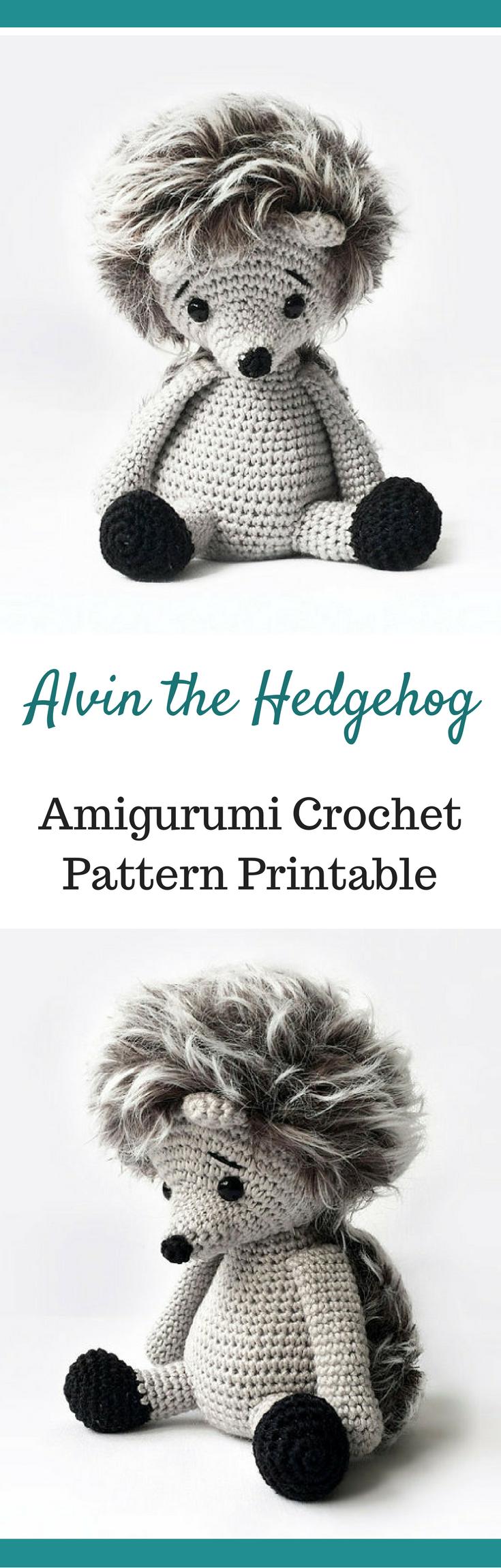 Alvin the Hedgehog Amigurumi Crochet Pattern Printable #ad ...
