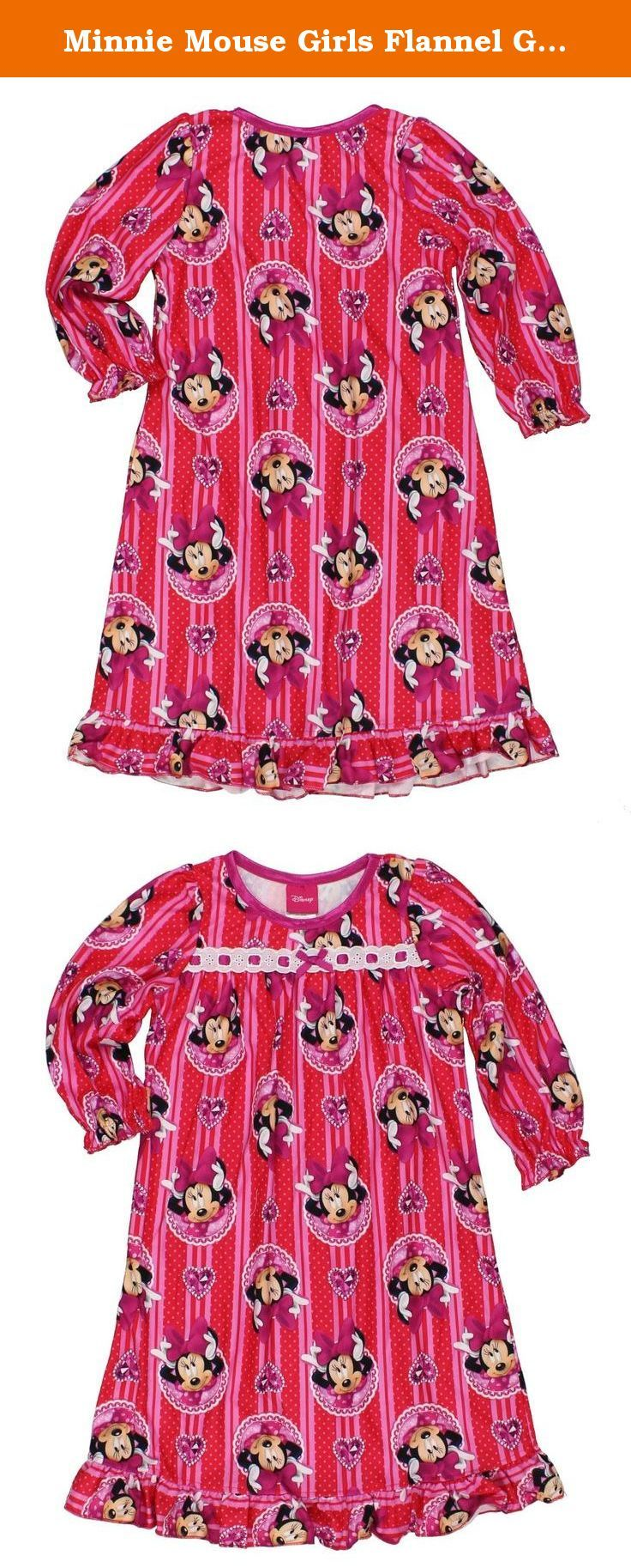 Minnie Mouse Girls Flannel Granny Gown Nightgown Pajamas (4T 6ec2d82ee