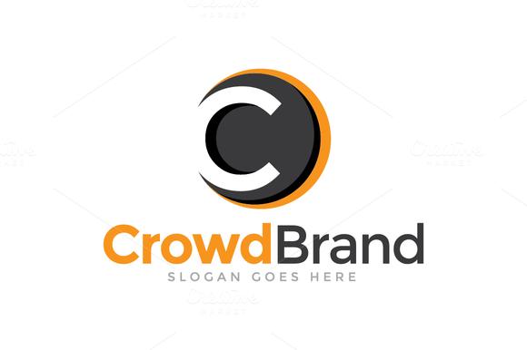 Crowd Brand Letter C Logo Lettering Logos Letter Logo