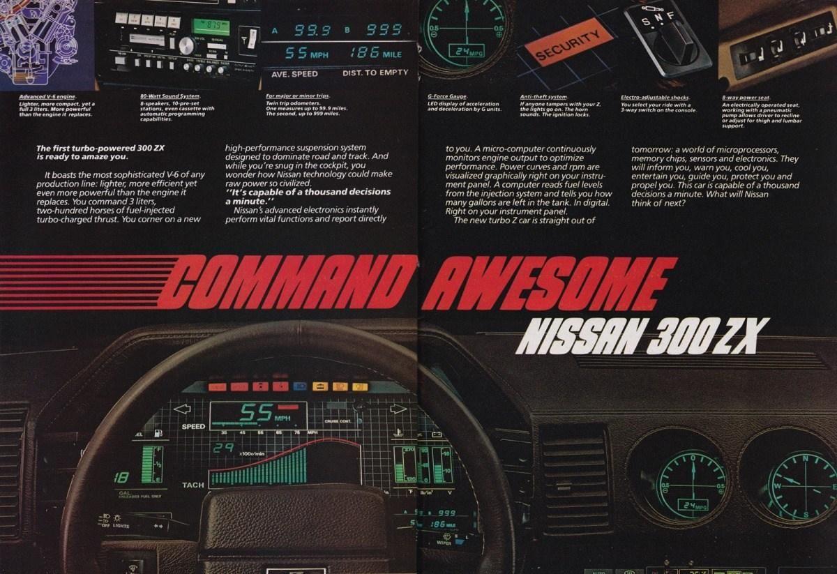 1985 Nissan 300zx Ad Featuring Digital Dash