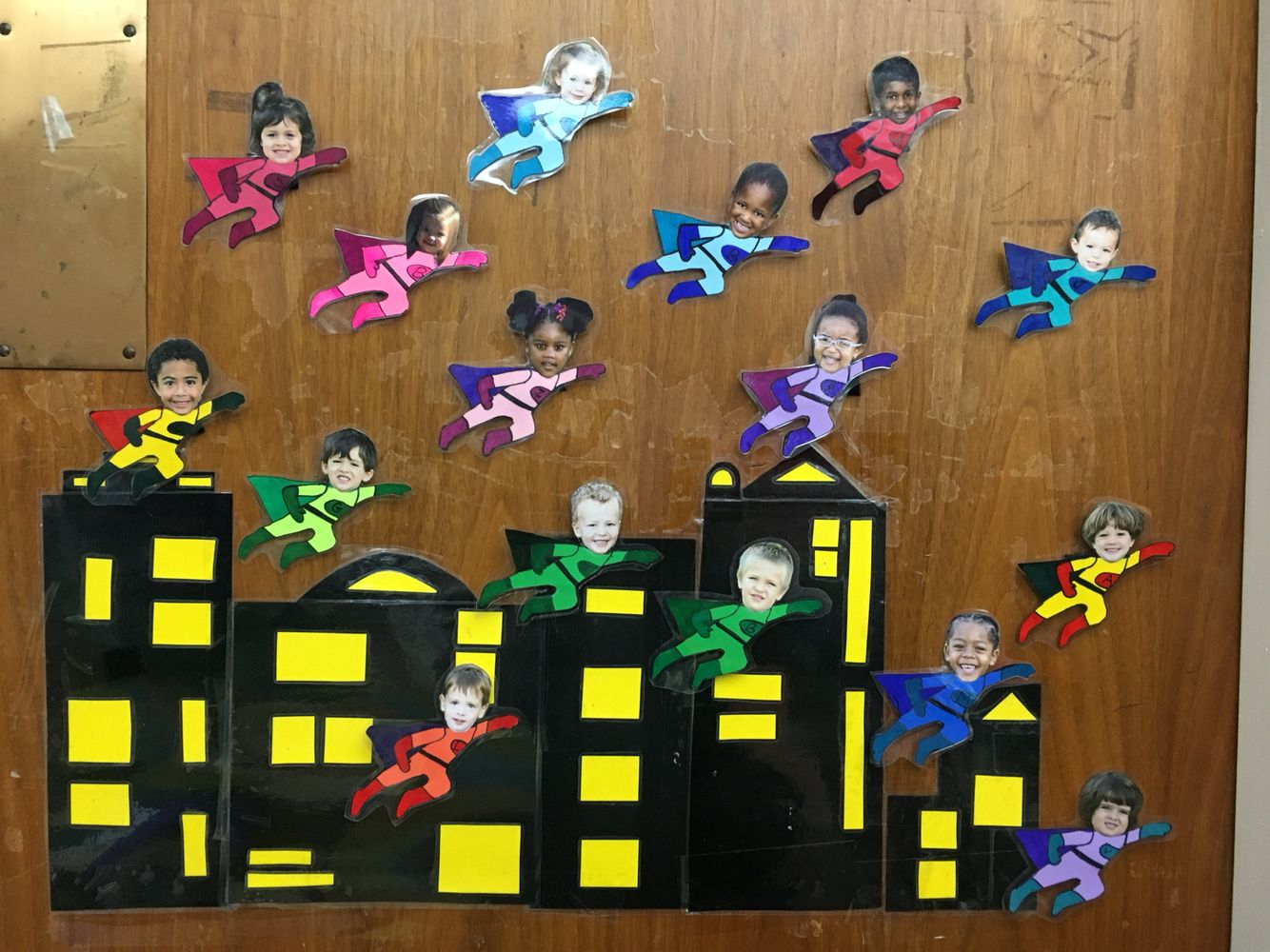 Preschool Superhero Attendance Board