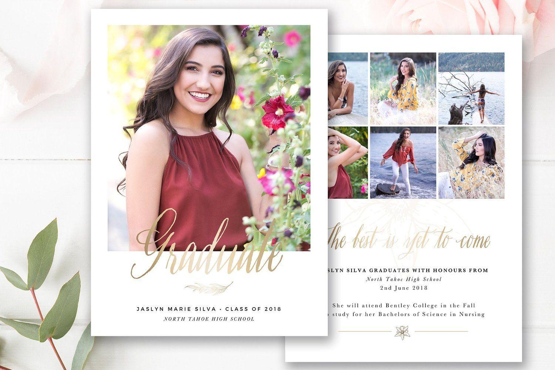 Graduation Announcement Template Photoshop Template By Stephanie Design Graduation Announcements Senior Graduation Announcements Graduation Announcement Template
