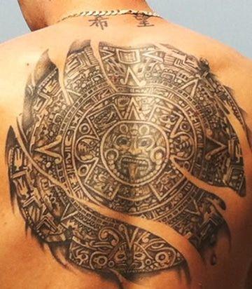 Tatuajes de calendario azteca en espalda tatuajes para for Tattoos mexicanos fotos