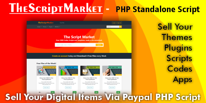 The Script Market Sell Digital Items Via Paypal Php Standalone Script