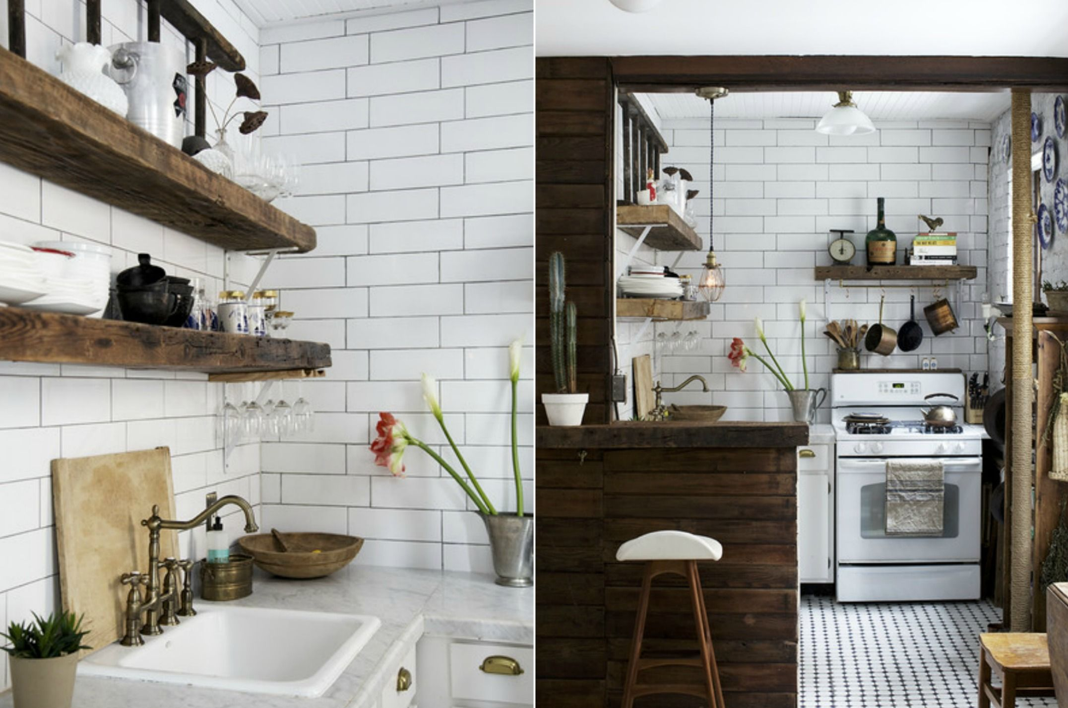 House Tour Mix Dark Wood And White For A Crisp Industrial