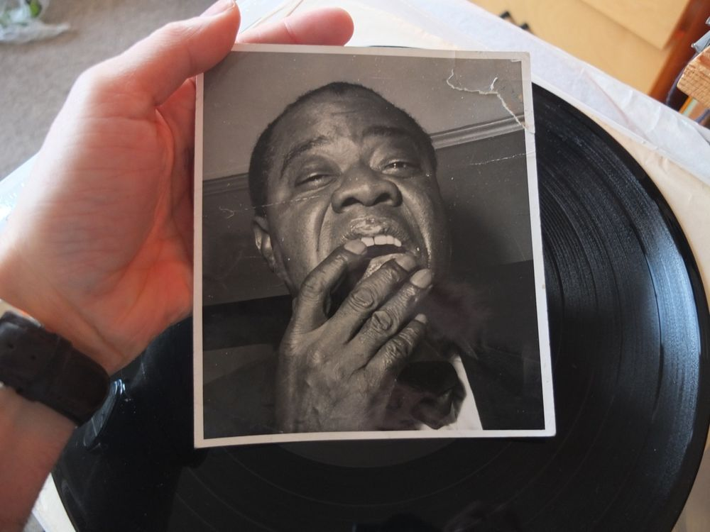 Louis Armstrong Photo Real Photograph old picture Jazz Louie