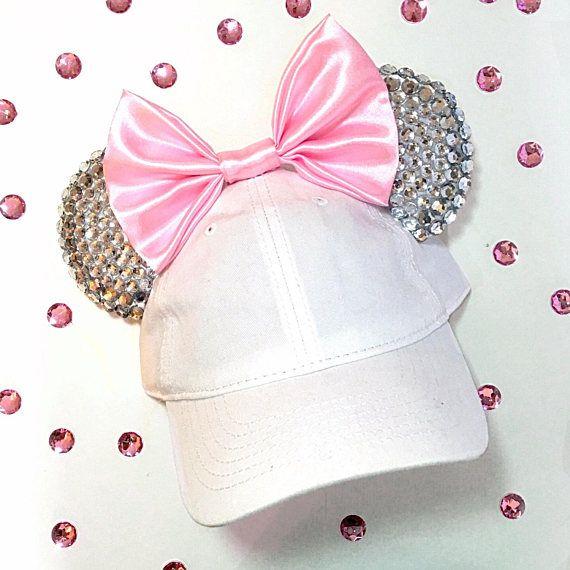 Disney inspired Minnie Mouse sparkly diamond ears / hat | Disney ...