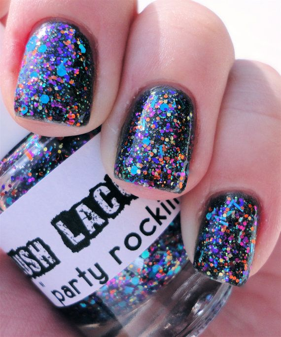 **Lush Lacquer - Party Rockin** Custom Blended Glitter Nail Polish by lushlacquer, $8.75 - Etsy