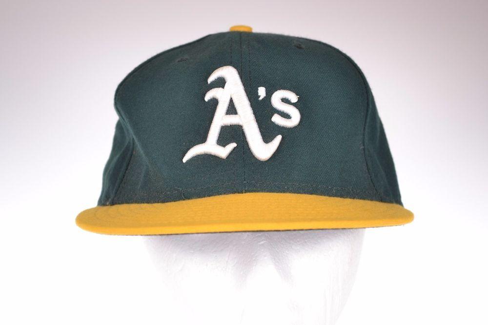 Oakland Athletics MLB Baseball Hat Fitted Cap Authentic Collection New Era 7 3/8 #Athletics #NewEra #BaseballCap