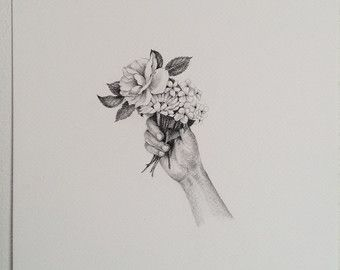 Image Result For Hands Holding Flowers Sketch Drawing Ideas Crafts