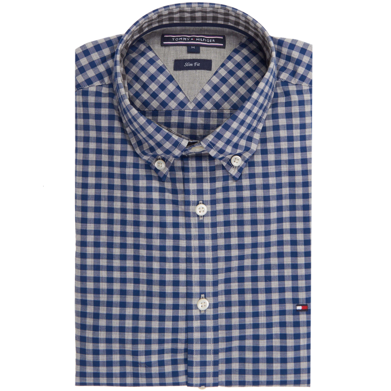 TOMMY HILFIGER Hemd 'Gingham' im Slim-Fit ► Das Hemd von TOMMY HILFIGER ist im Slim-Fit geschnitten und sorgt mit reiner Baumwollqualität für einen angenehmen Tragekomfort. Ergänzt wird das Modell von einem Button-Down Kragen, der den Look mit sportlichem Akzent abrundet.