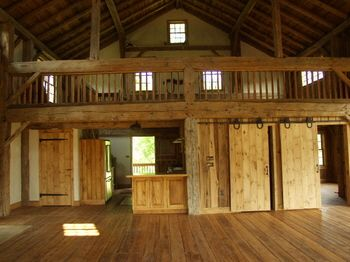 Cola s barn home conversion my dream open floor plan for Open barn plans