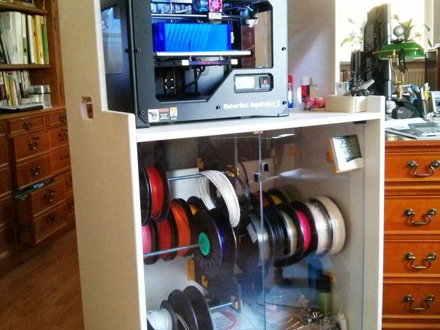 Cabinet For Printer Dry Storage For Filament With Easy Change System And Tooling 3d Printing On Wheels Workstation By G Printer Storage Workstation Storage