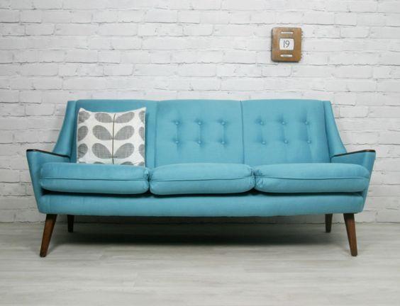 RETRO VINTAGE MID CENTURY DANISH STYLE SOFA DAYBED EAMES ERA S - Retro style sofa