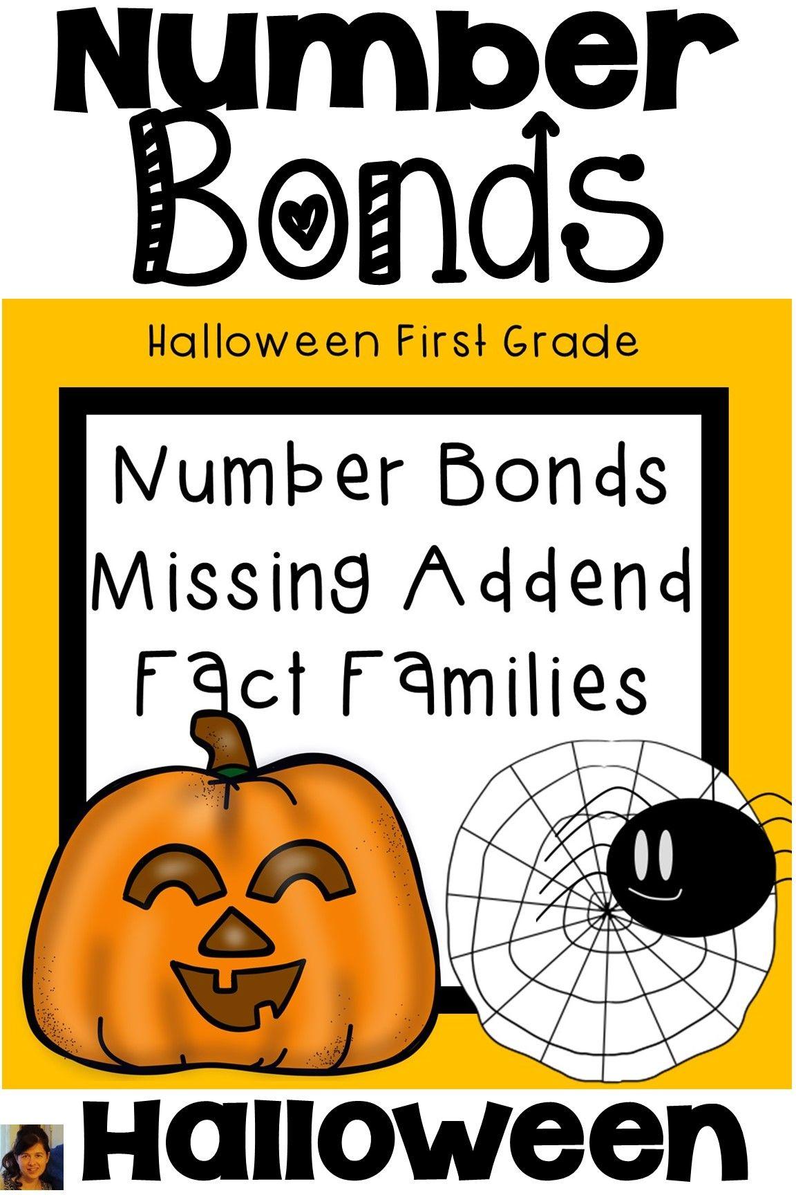 Number Bonds First Grade Halloween