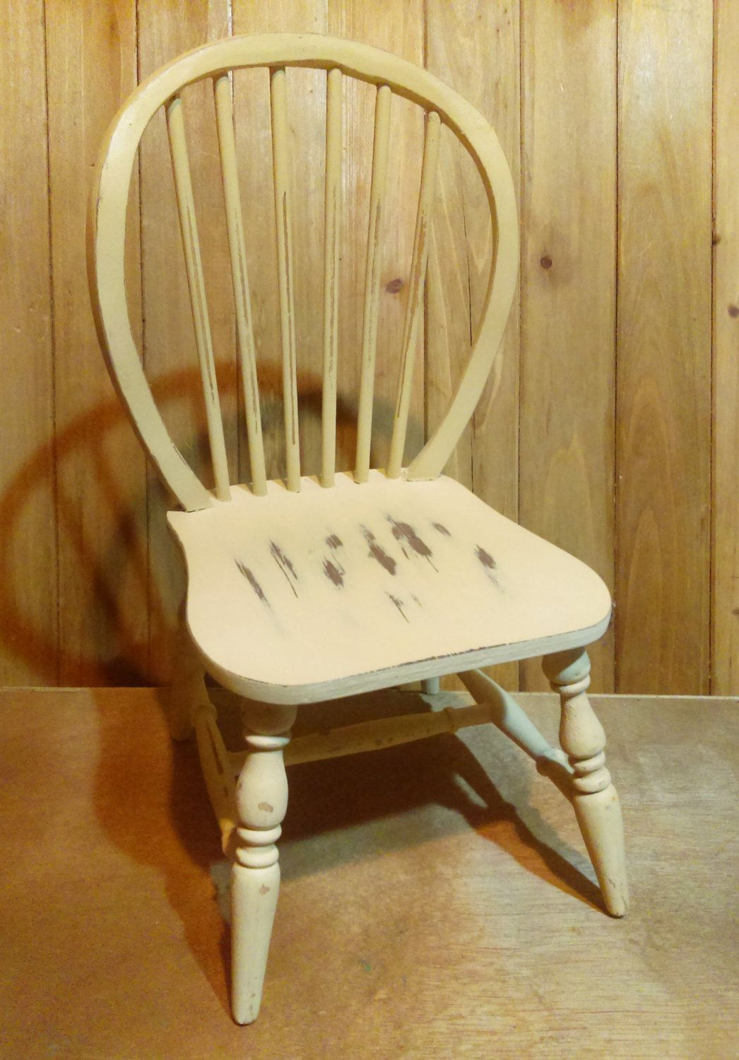 Yellow shabby chic furniture - Vintage Yellow Wooden Doll Chair Shabby Chic Handmade Distressed Chair Children S Toy Photography Prop Doll Furniture Christmas Gift