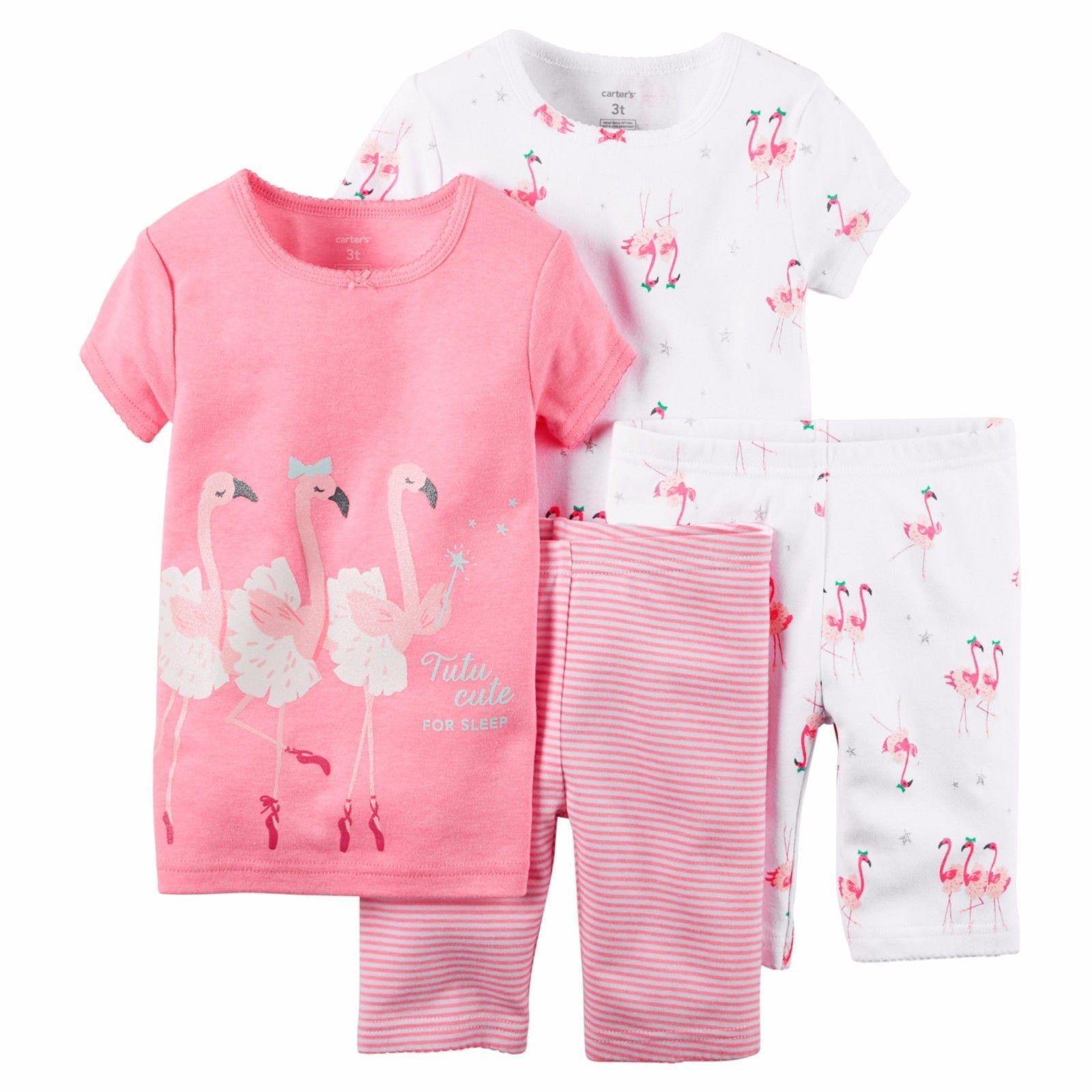 Sleepwear Carter S Girls 4 Piece Pajamas Set Msrp$44 00 Size