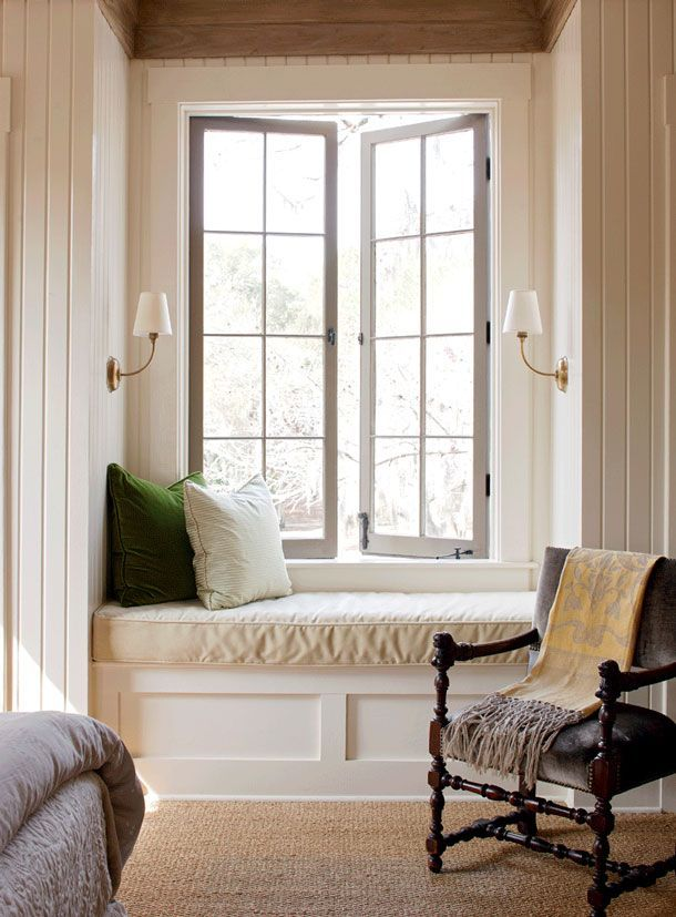 Cozy Retreats | Reading nooks, Window and Wall sconces