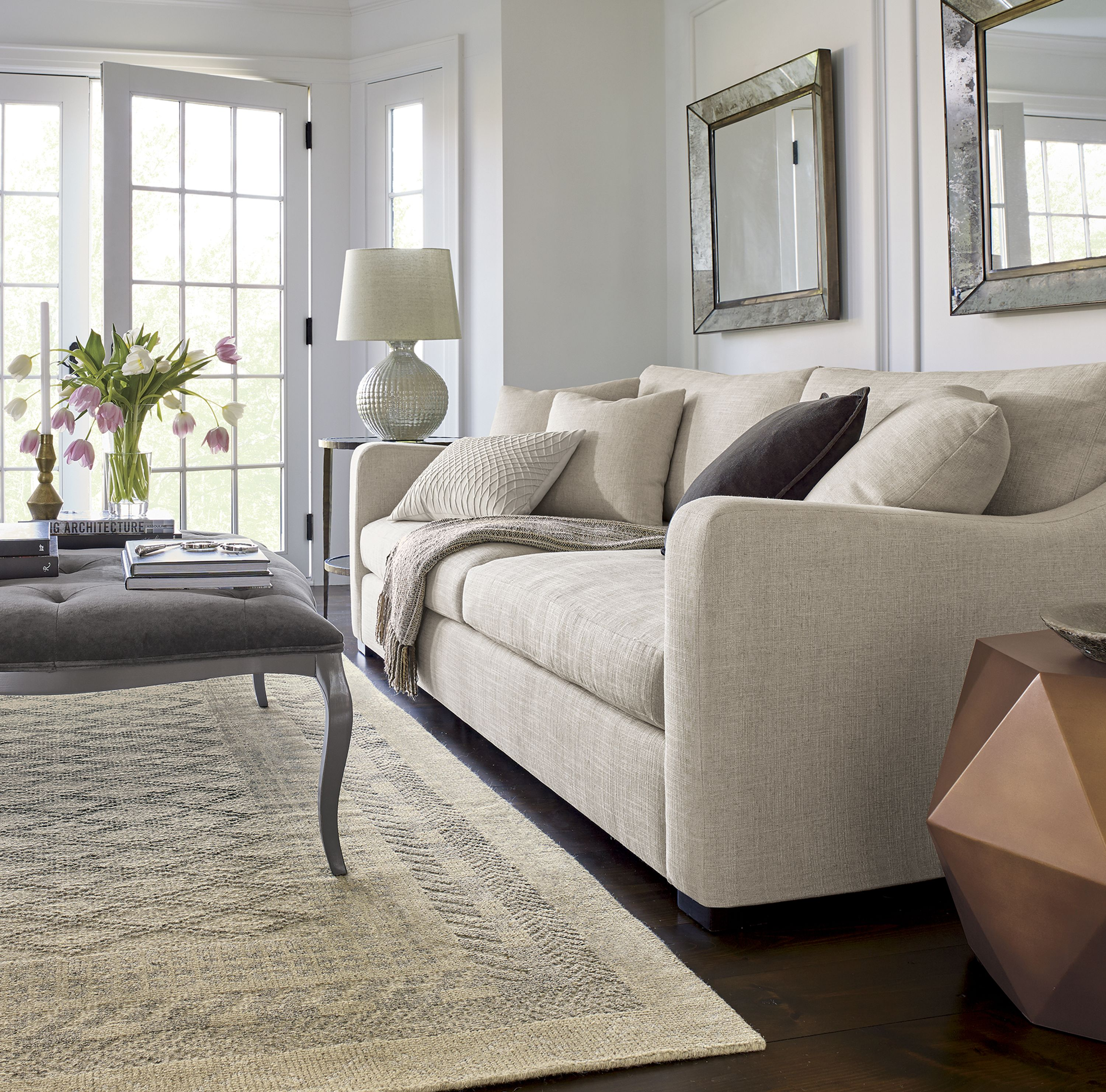 Crate And Barrel Verano Sofa Large Yellow Cushions The Furniture Collection Sits Deep Luxurious
