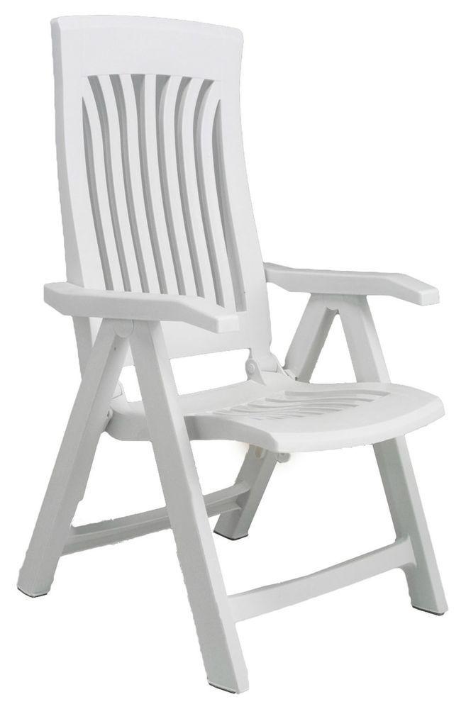 #Plastic #Garden #Chair #Folding #Reclining #Armchair #Patio #Portable
