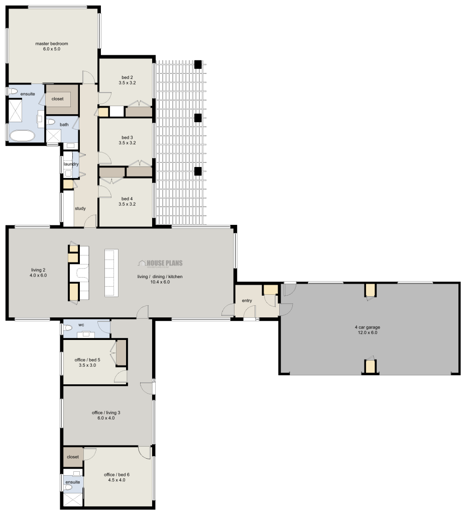 Zen lifestyle 1 6 bedroom house plans new zealand ltd for New zealand house design