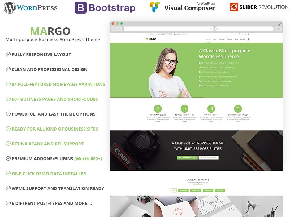Margo multi purpose wordpress business theme html bootstrap margo multi purpose wordpress business theme cheaphphosting Gallery