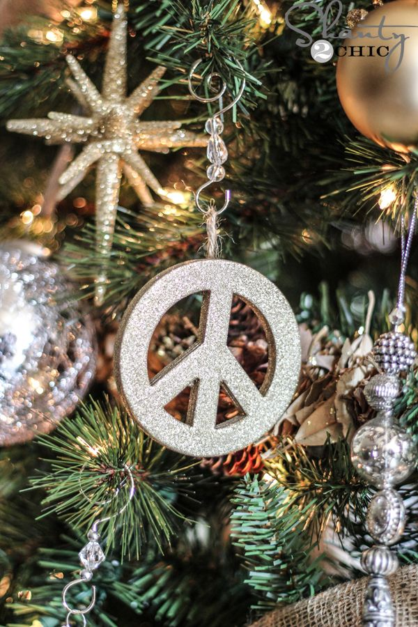 Diy Pottery Barn Inspired Ornaments For 1 Peace Pinterest