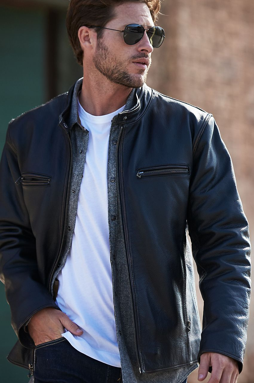 Retro Motocross Cowhide Leather Jacket Leather Jacket Men Best Mens Leather Jackets Leather Jacket Style