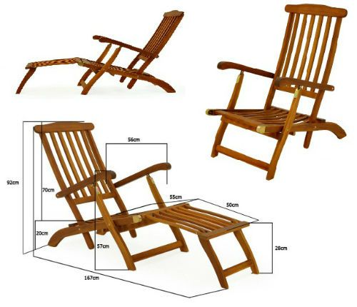 Wooden sunbed reclining garden sun lounger patio folding for Flat pack garden decking