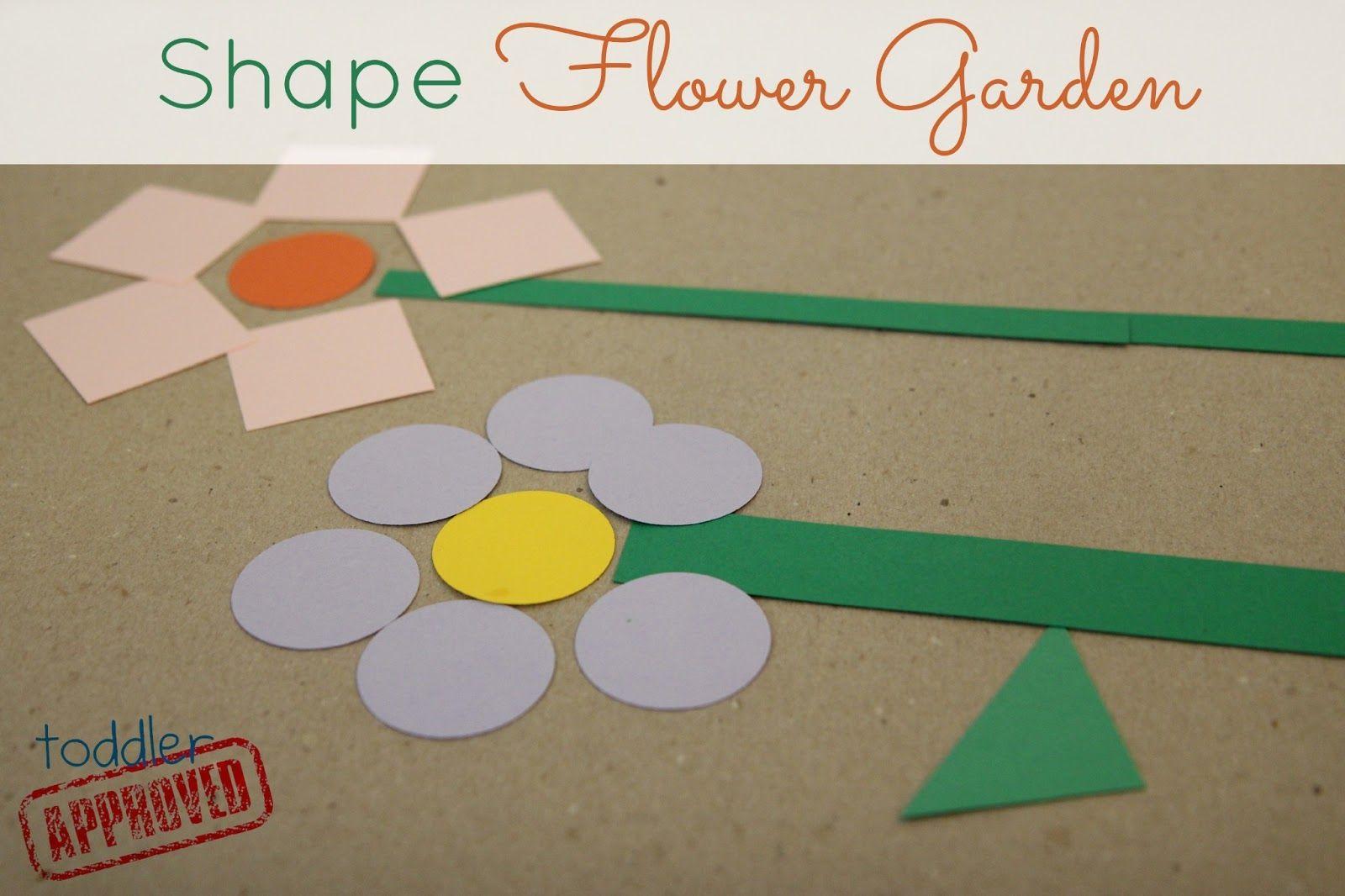 Shape Flower Garden Toddler Approved Shapes Preschool Shapes Activities Preschool Garden [ 1066 x 1600 Pixel ]