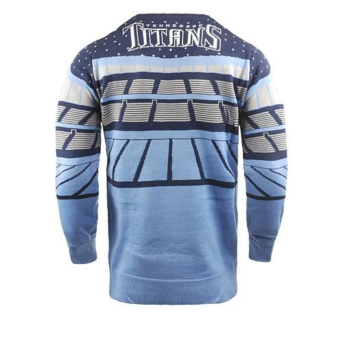 5ad860bd6f8 Officially Licensed NFL 2018 Bluetooth Light-Up Sweater by Team Beans -  Titans