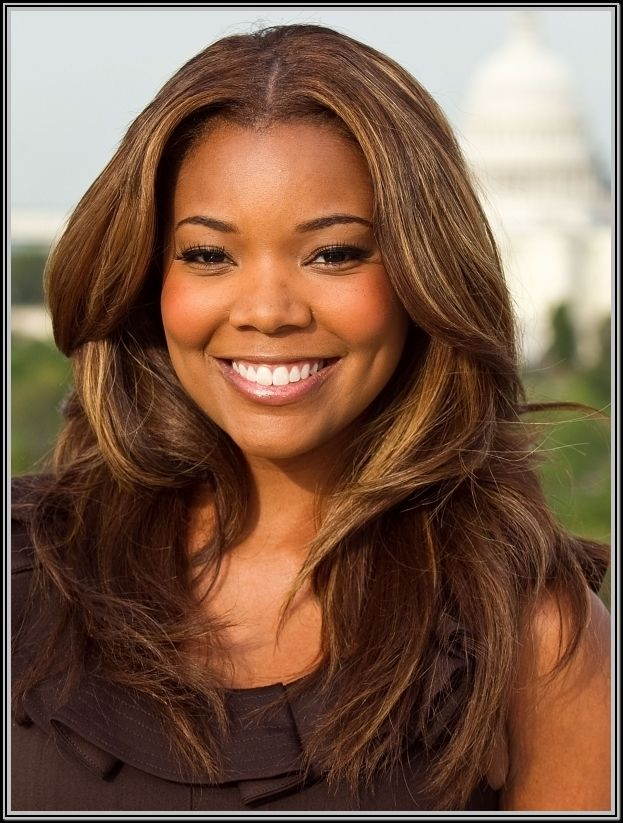 Medium brown hair color on black women