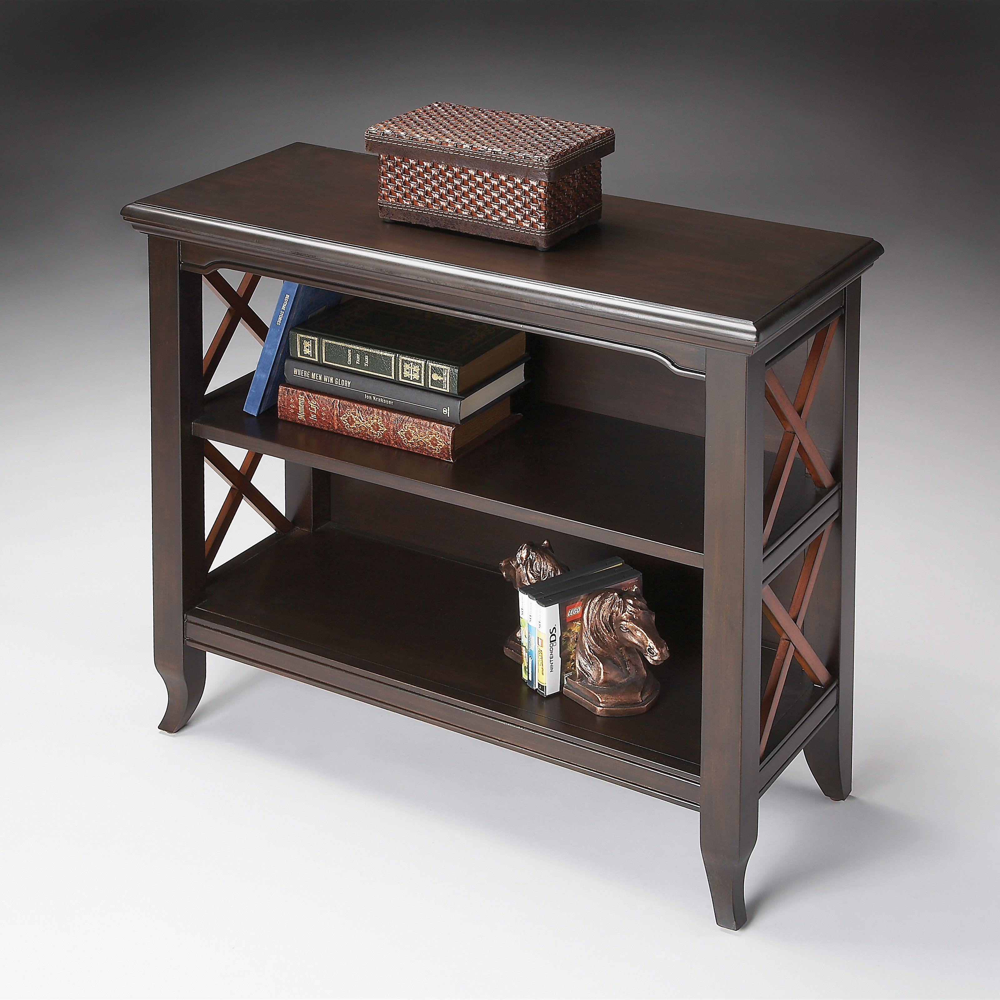 Butler Low Bookcase  Transitional Cherry  Present Your Favorite