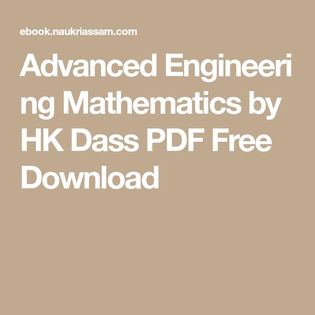 Advanced Engineering Mathematics by HK Dass PDF Free