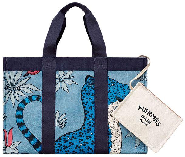 Hermes Leopard Beach Bag 2
