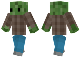 Minecraft Skins 8 Bit Zombie Skin Png Image With Transparent Background Png Free Png Images 8 Bit Minecraft Skins Image
