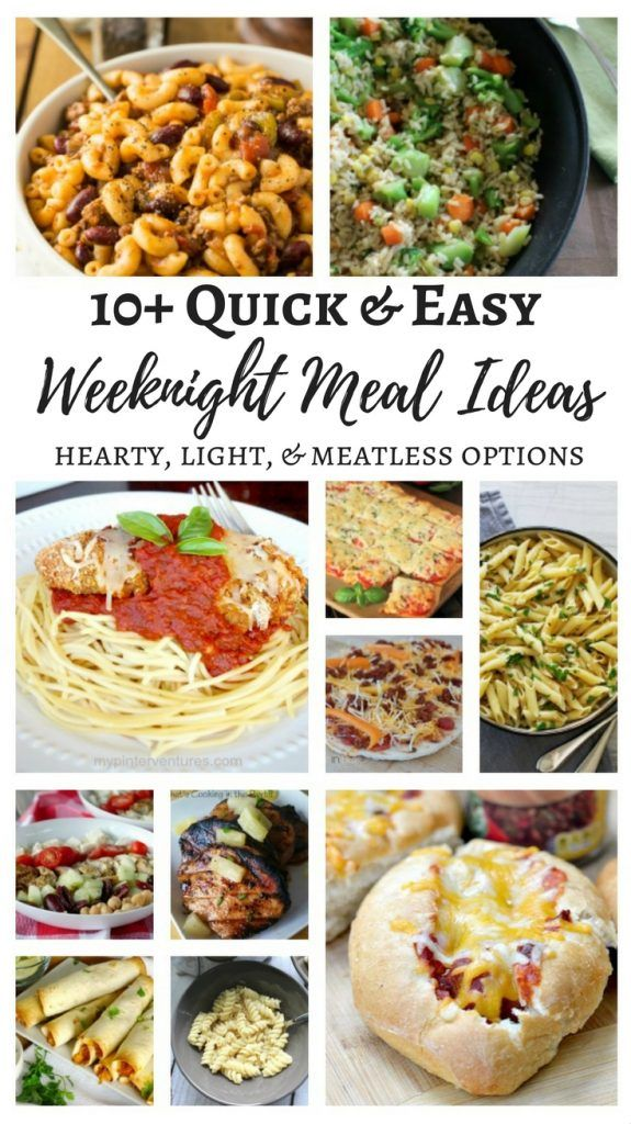 10 easy weeknight meal ideas hearty light meatless options 10 easy weeknight meal ideas hearty light meatless options forumfinder Images