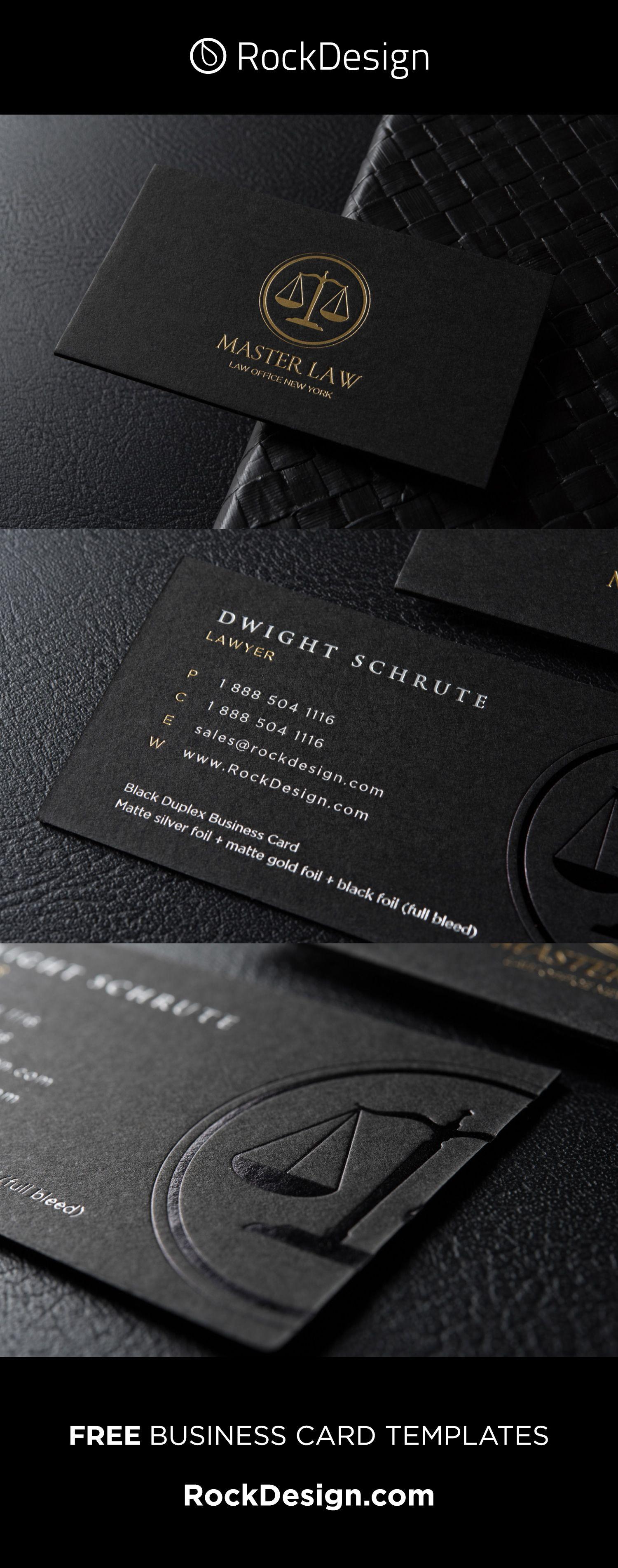 CLASSIC MODERN BLACK DUPLEX ATTORNEY BUSINESS CARD TEMPLATE – MASTER LAW