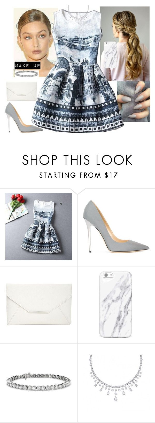 """Untitled #124"" by fatyhnrqz94 ❤ liked on Polyvore featuring Rainbeam, Jimmy Choo, Style & Co. and Blue Nile"