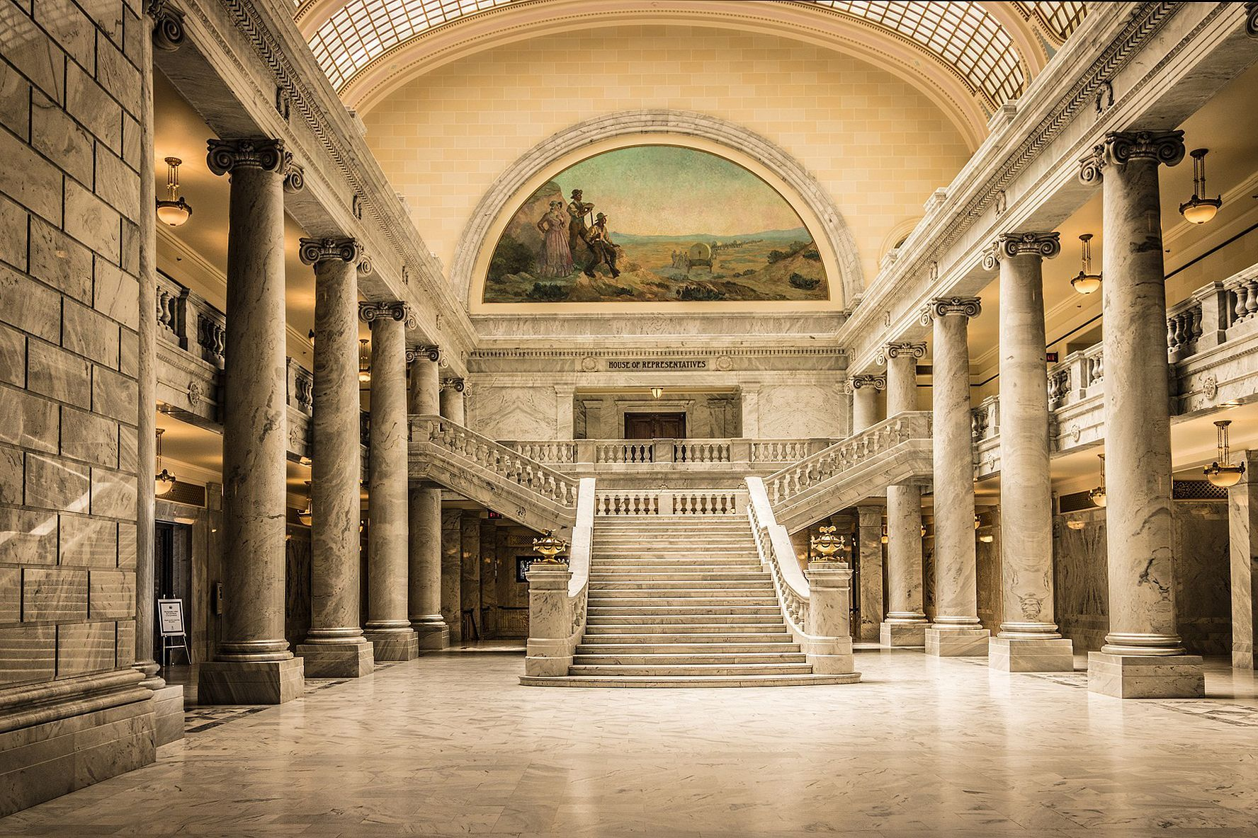Utah State Capitol Interior Modlar Com Painted Stairs Neoclassical Architecture Architecture