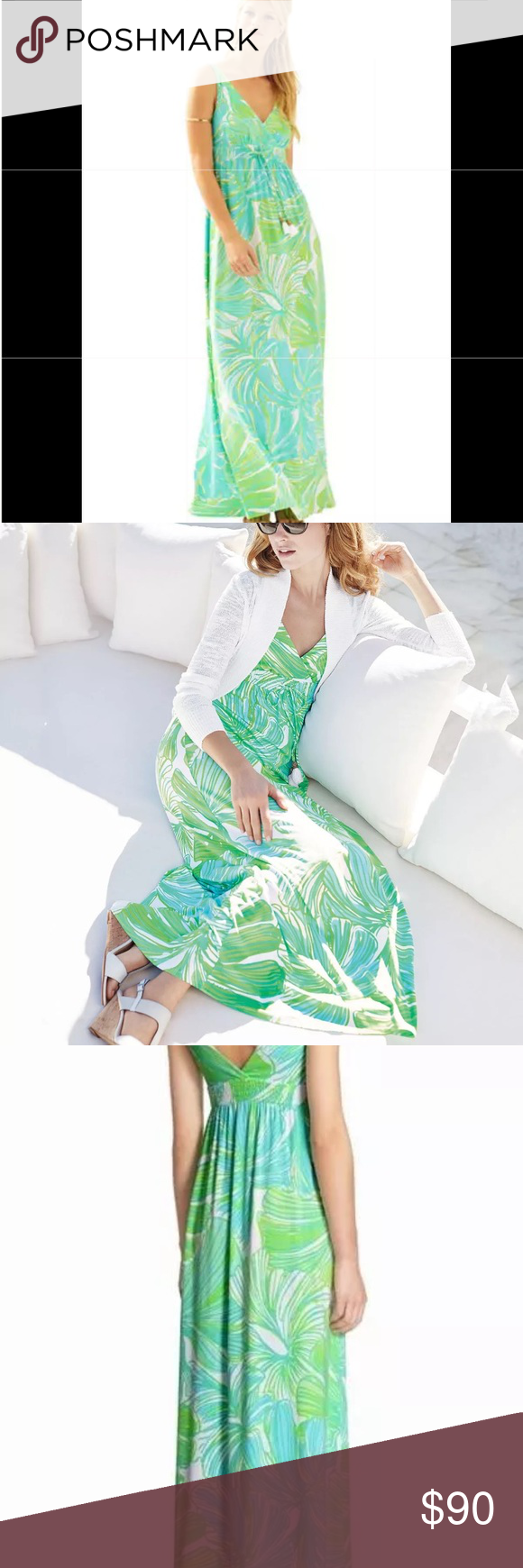 9d66f536519 Lilly Pulitzer Green Sheen Fronds Place Maxi Dress Brand new never worn Lilly  Pulitzer Maxi Dress