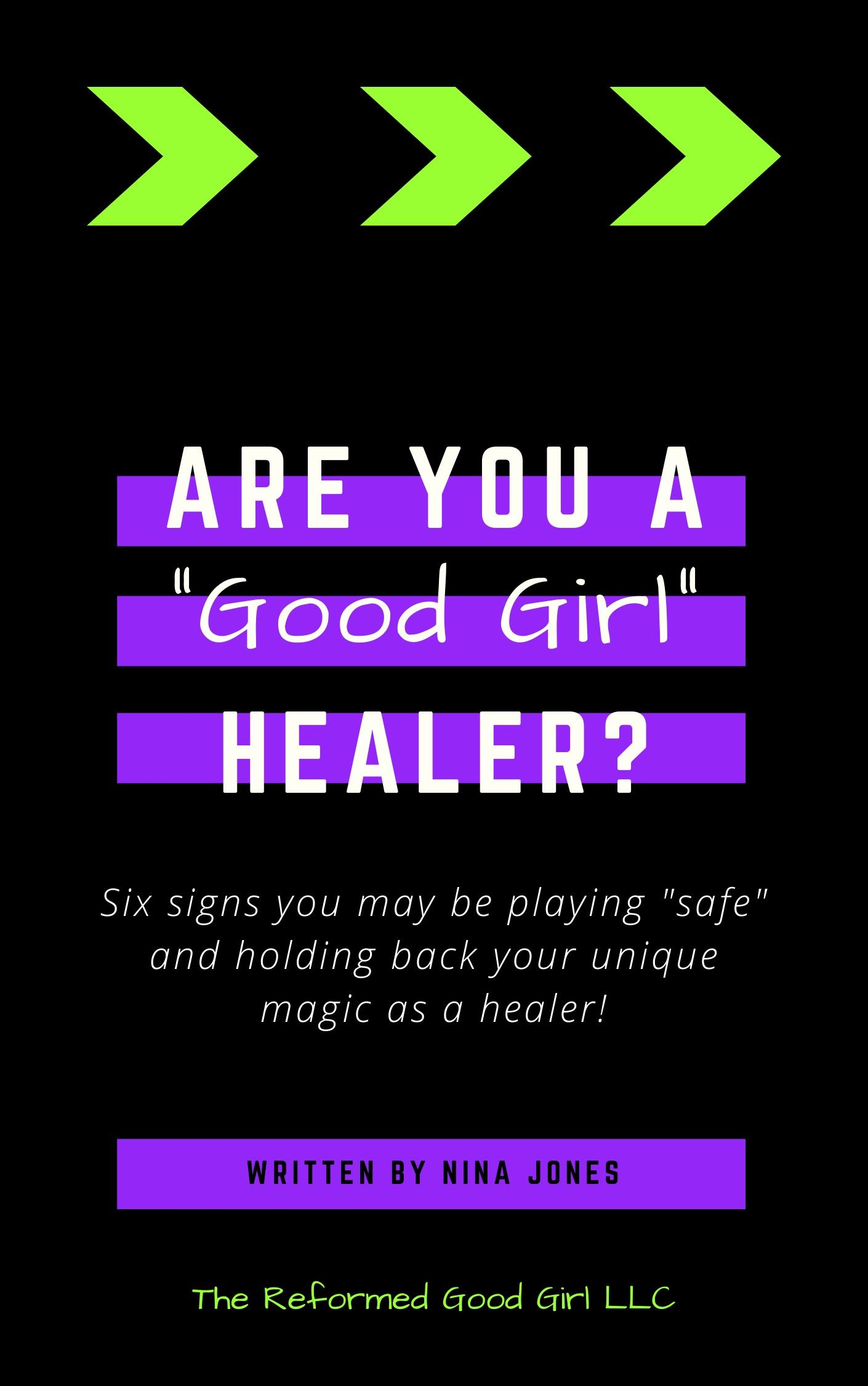 Your unique magic is the key to making a massive impact. Grab this FREE ebook to see if you are a good girl healer. #energyworker #lightworker #dogma #reiki #empath #spiritualjourney