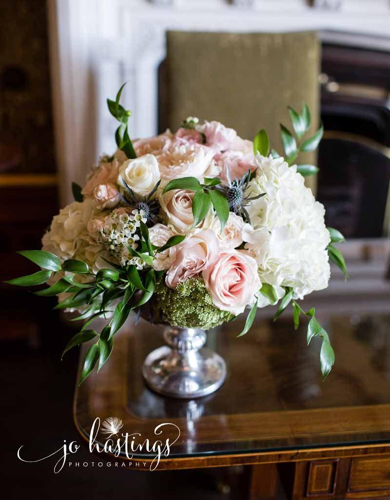 Elegant Wedding At Heath House Dusty Blue Pink Flowers Wedding